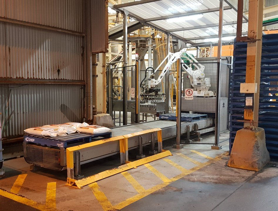 automated palletising robot