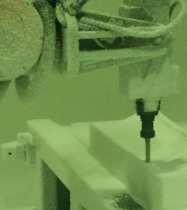 robotic machining cell creating moulds for a client