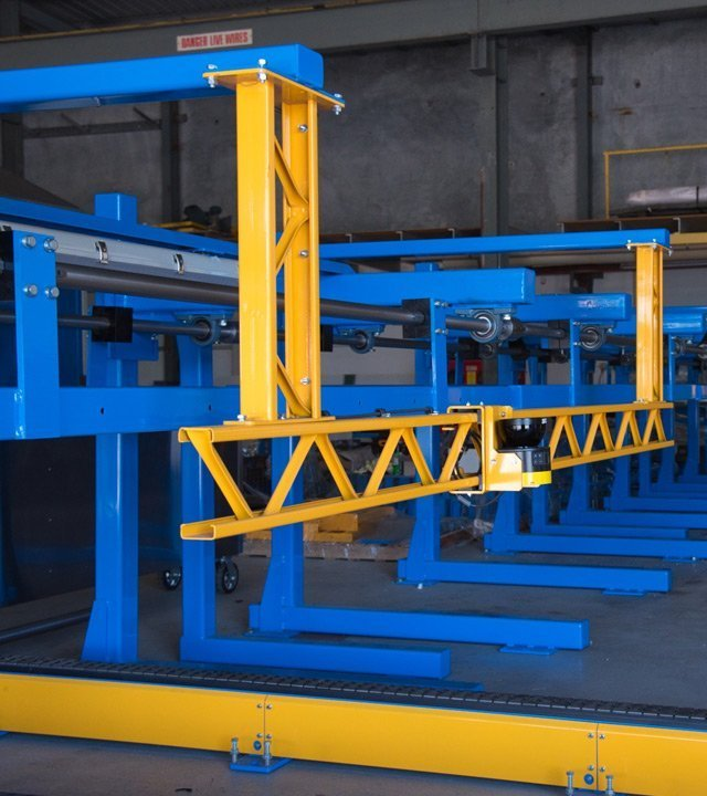 custom automated drop stacker