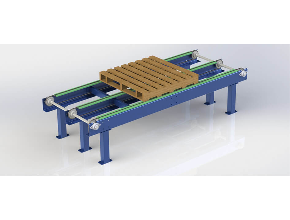 3d render of inline conveyor