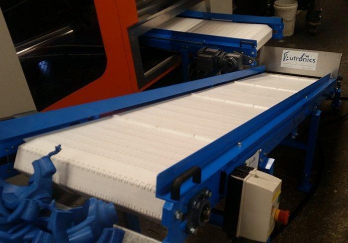 low profile conveyor installation in progress