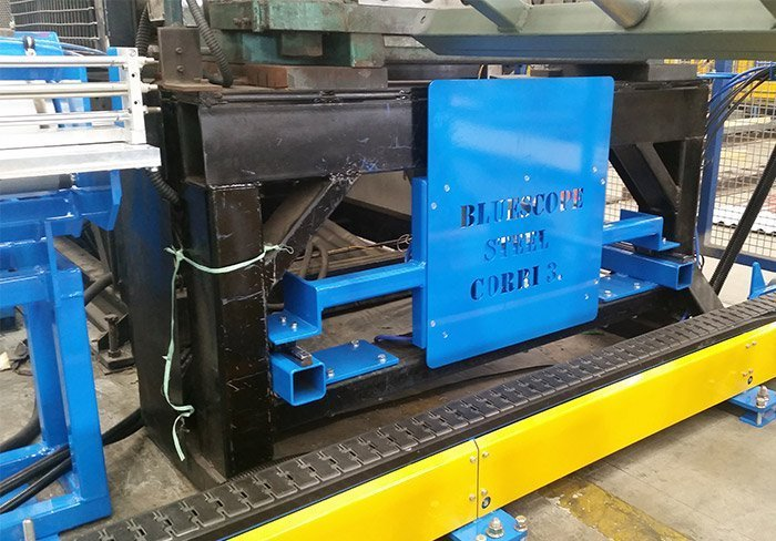automated metal sheet aligning unit